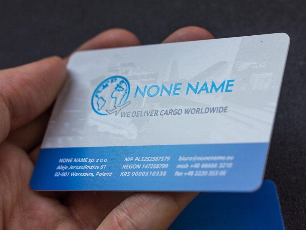 Prime Business Cards | Color, transparent PVC business cards