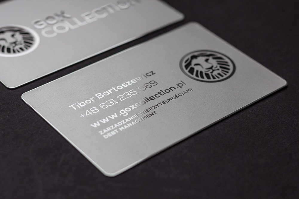 Prime business cards matte silver metal card gox matte silver metal cards 2 colourmoves