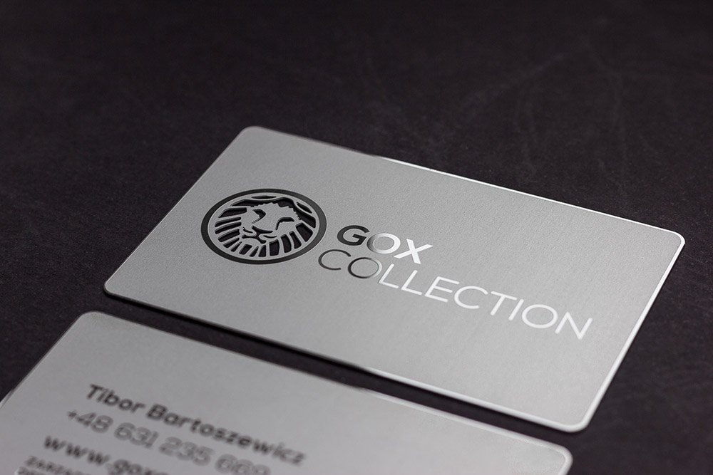 Prime business cards matte silver metal card gox matte silver metal cards 3 reheart Gallery