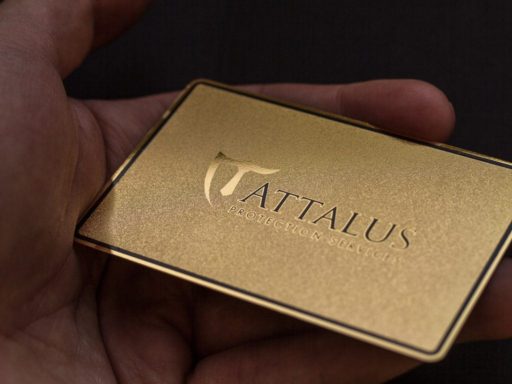 Prime Business Cards | Gold Matte Metal Card- Attalus