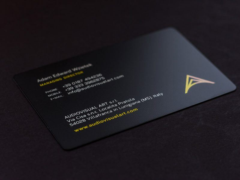 Prime Business Cards | Letterpress triplex card with hotstamping ...