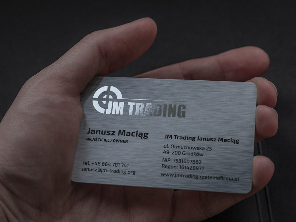 Prime Business Cards | Plastic PVC card with hotstamping- JM Trading