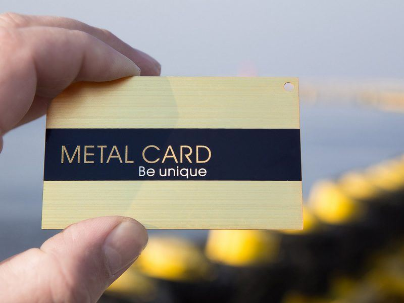Prime Business Cards | Brushed gold metal card- Be Unique